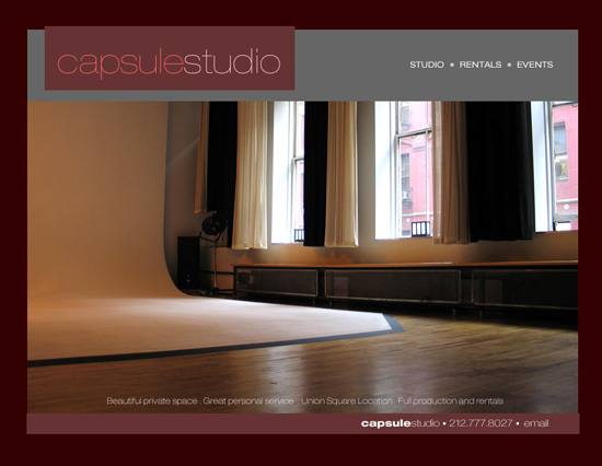New York Event Space web design C1