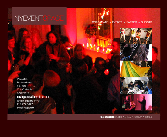 New York Event Space web design 6