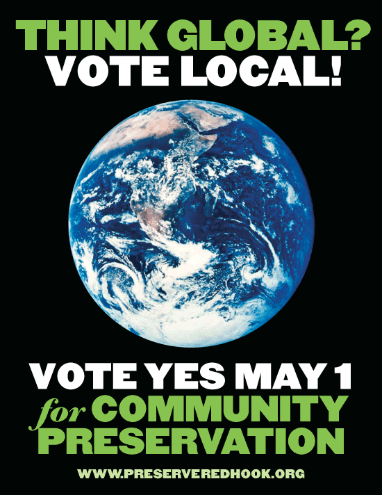 election poster design for Red Hook Community Preservation Act-earth 2