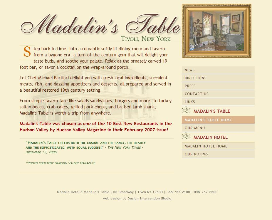 madalin old site page